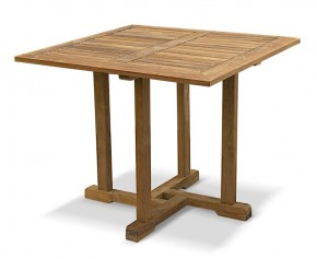 Canfield Teak Square Outdoor Table - 0.9m - Fixed Tables