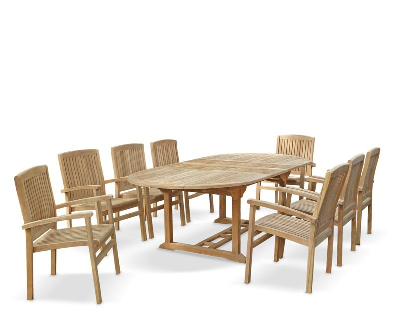 Santorini Extending Garden Table and Chairs Set
