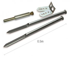 Ground Anchor Kit for Soft Surfaces Including Installation Tool