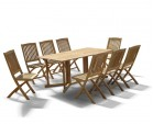 Shelley Gateleg Folding Garden Table and Chairs Set