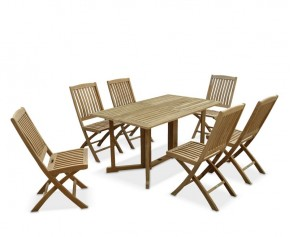 Shelley Gateleg Rectangular Garden Table and 6 Chairs - Rectangular Table