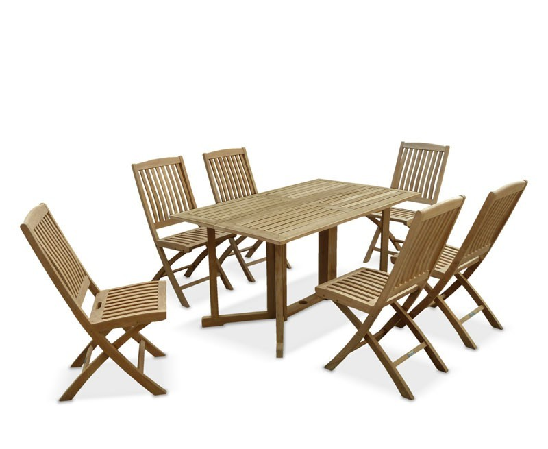 Shelley gateleg rectangular garden table and chairs - Gateleg table with chairs ...