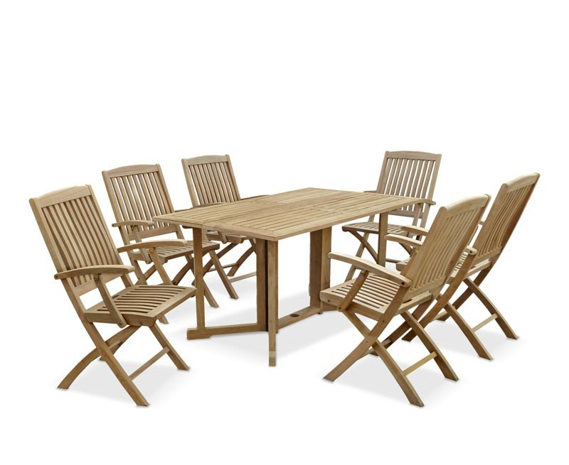 Shelley Teak Rectangular Garden Table and Arm Chairs Set  : rectangular garden table and arm chairs set 6 seater gateleg garden dining set from www.corido.co.uk size 800 x 655 jpeg 63kB