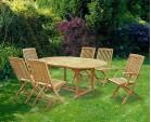 Brompton Teak Extending Table Set