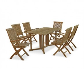 Shelley Garden Gateleg Table And Chairs Set - 2 - Rectangular Table