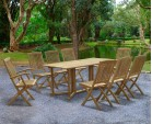 Shelley 8 Seater Drop Leaf Garden Table, Bali Armchairs and Side Chairs Set