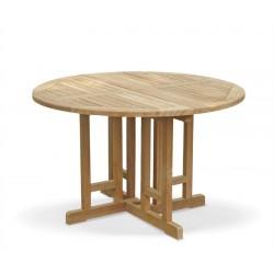 Berrington Teak Folding Round Gateleg Table - 120cm