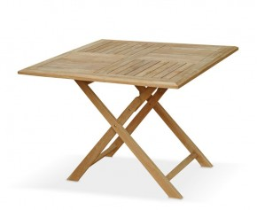 Suffolk Teak Square Folding Table - 1m - Folding Garden Tables