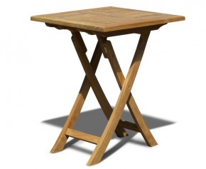 Suffolk Teak Square Folding Garden Table - 60cm - Suffolk Tables