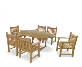 Taverners Six Seater Extendable Dining Set - Extending Table