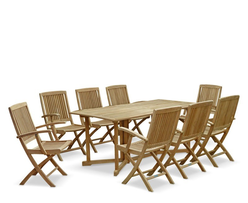 Shelley Teak Garden Drop Leaf Table and Chairs Set