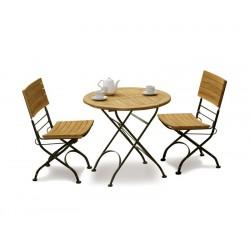 Teak Garden 2 Seater Bistro Set - Outdoor Bistro Dining Set