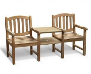 Ascot Vista Teak Companion Seat - Love Seats