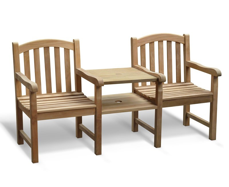 Clivedon Vista Teak Garden Companion Seat