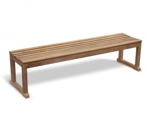 Westminster Teak Backless 6ft Garden Bench - Large Garden Benches