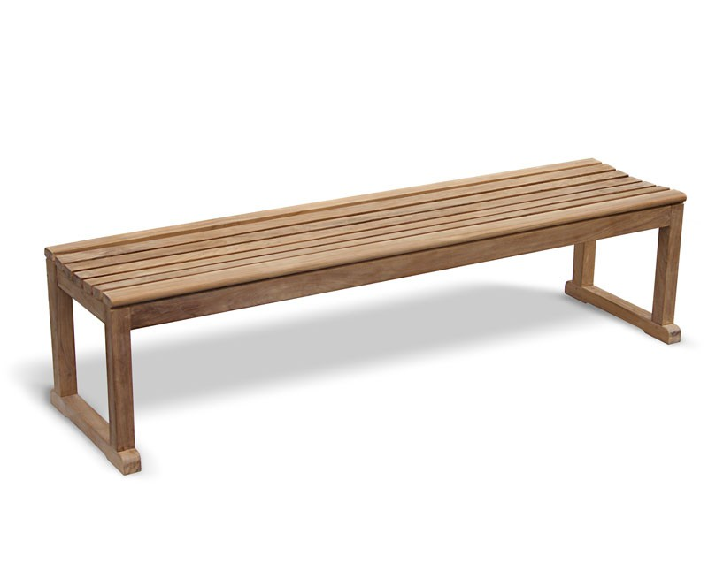 Westminster Teak Backless 6ft Garden Bench Sports Bench