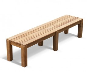 Chichester Teak 2m Backless Bench - Backless Garden Benches