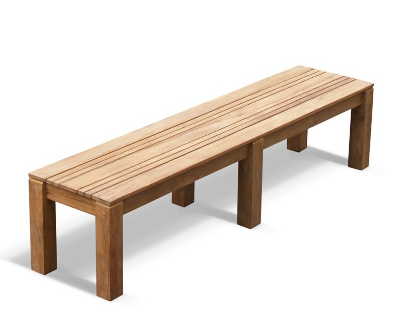 Chichester Teak Backless Bench 2m School Gym Bench