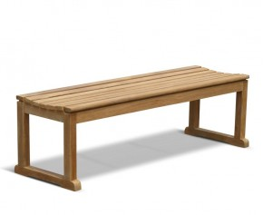 Westminster Teak Backless Outdoor Bench - 1.5m - Garden Benches