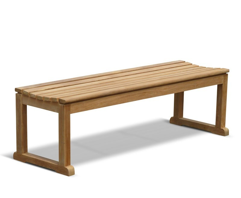 Westminster Teak Backless 5ft Garden Bench Changing Room Bench