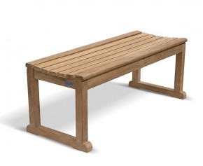 Westminster Teak 4ft Backless Garden Bench - 2 Seater Garden Benches