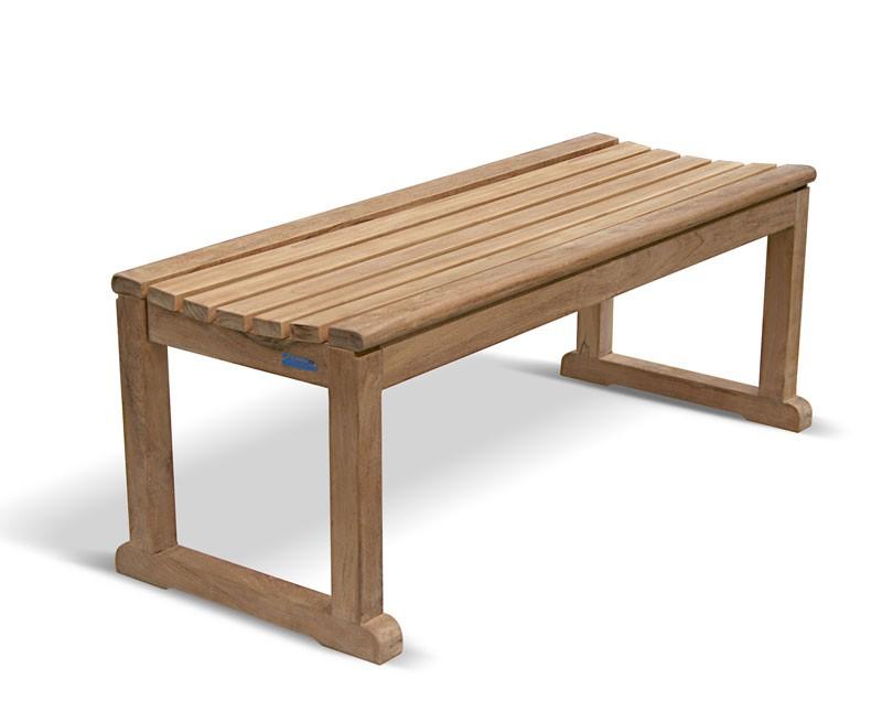 Westminster Teak 4ft Backless Garden Bench Tennis Bench