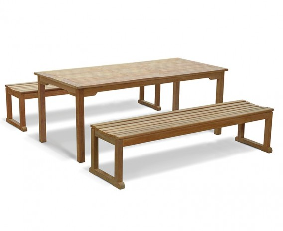 Westminster Teak Table and Benches Set - 180cm