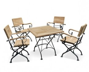 Square Bistro Table and Chairs Set - 4 Seater Dining Sets