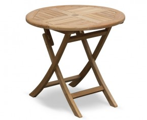 Suffolk Teak Round Folding Table - 80cm - Suffolk Tables