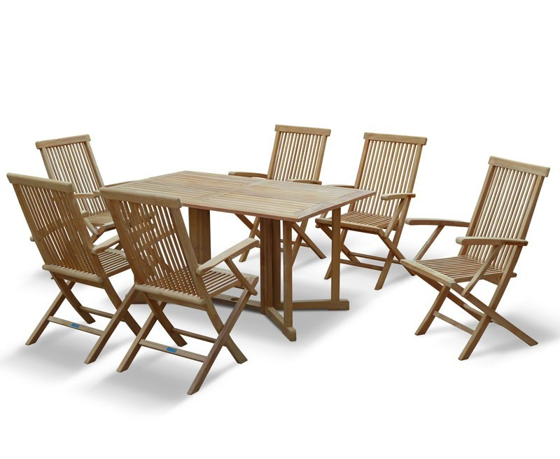 Shelley 6ft garden gateleg table and chairs - Gateleg table and chairs ...