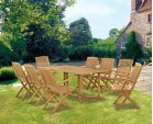 Shelley 1.8m with 8 Bali Armchairs