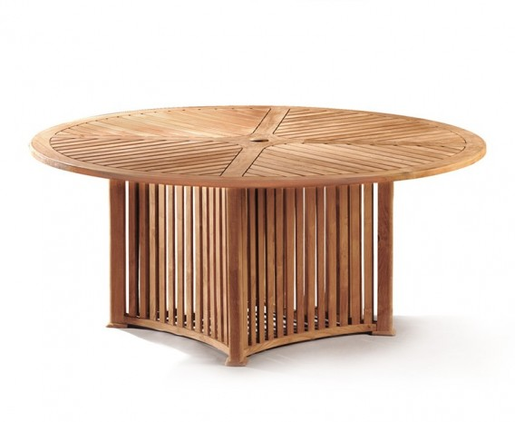 Aero Teak Garden Contemporary Round Table - 180cm