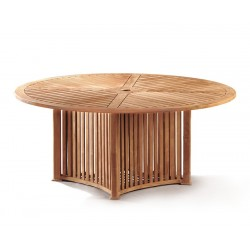 Aero Teak Garden Contemporary Round Table -180