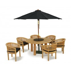 Titan 6 Seater Teak Wooden Patio Dining Set