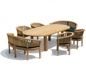 Titan Oval Contemporary Dining Set - Large Dining Sets