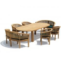 Titan Oval Contemporary Dining Set