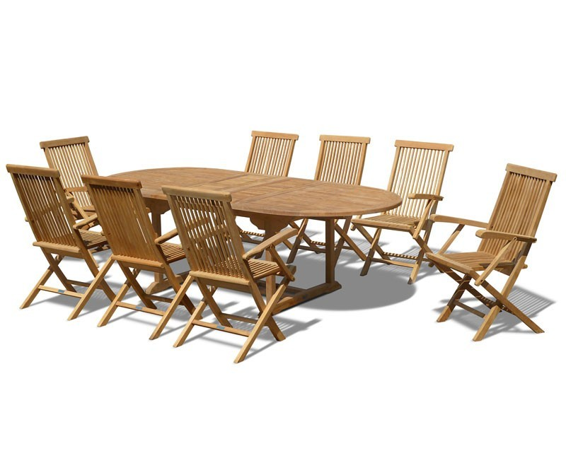Ashdown Teak Extending Table And 8 Chairs Set