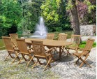 Ashdown 8 Seater Table and Folding Chairs Set