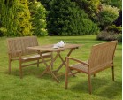 Rimini Teak Table and Benches Set