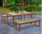 Sandringham Teak Table and Benches Set 1.5m