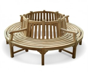 Round Tree Seat with Arms - Large Garden Benches