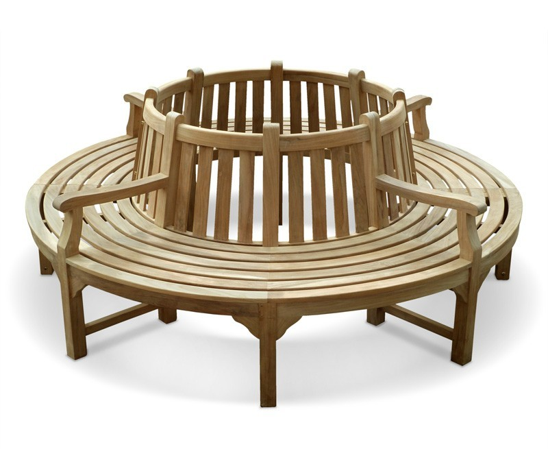 Round Tree Bench With Arms