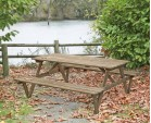 Teak 6ft Garden Pub Bench