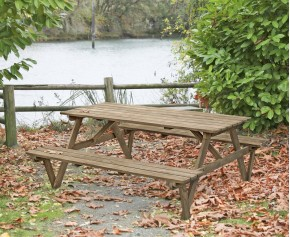 Teak 6ft Garden Pub Bench - Park Benches