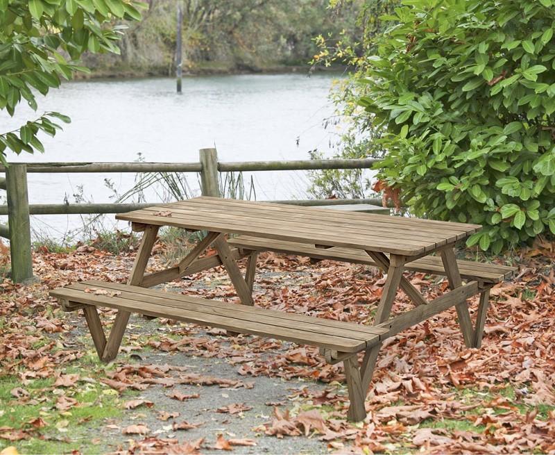 Teak 6ft Garden Pub Bench Teak Picnic Table