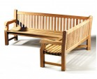 Balmoral Teak Wooden Corner Garden Bench (Right Orientation)