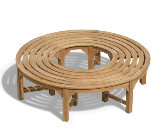 Saturn Teak Circular Tree Bench - 160cm