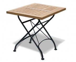 Square Folding Bistro Table - 60cm  - 4 Seater Dining Tables