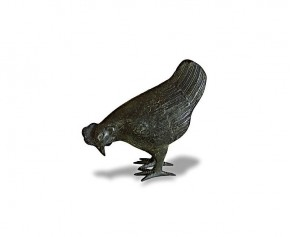 Small Hen Brass Garden Ornament - Animal Ornaments