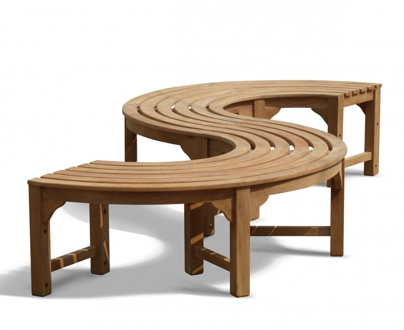 Saturn teak circular tree bench 160cm Circular tree bench